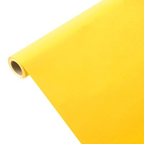 JUNOPAX 51826516 Geschenkpapier 50m x 1,00m sonnen-gelb
