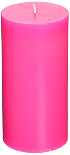 Zest Candle Pillar Candle, 3 by 6-Inch, Hot Pink