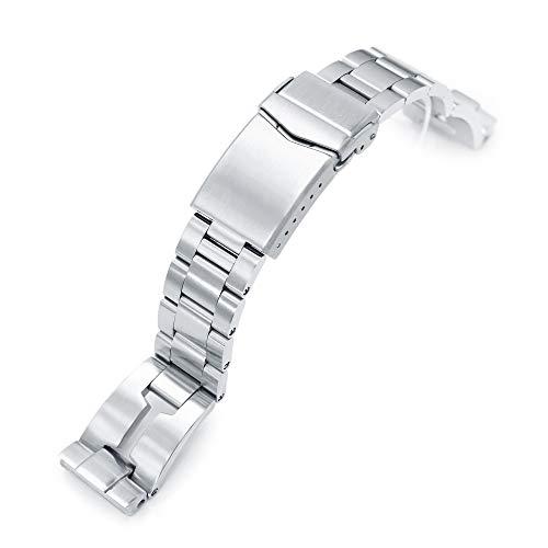 MiLTAT 20mm Retro Rasiermesser Uhrenarmband für Seiko sbdc053 aka Moderne 62mas, gebürstete V-Schließe