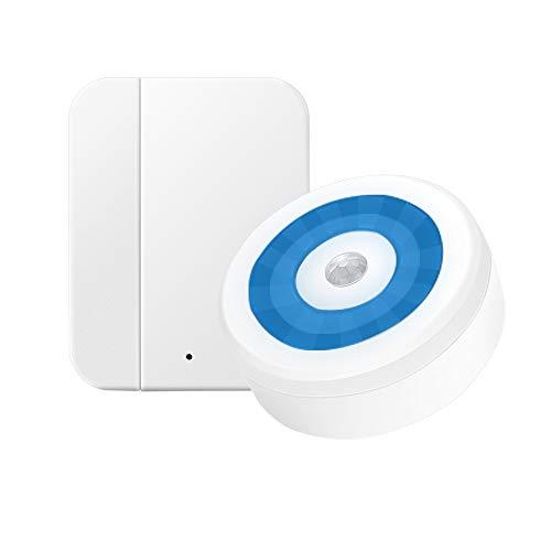 Yiroka Home Security - Alarma con Sensor magnético para Puertas y Ventanas (Sistema antirrobo inalámbrico)