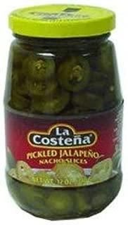 La Costeña Nachos Pickled Jalapeño Nacho Slices Net Wt 15.5 Oz (440g)