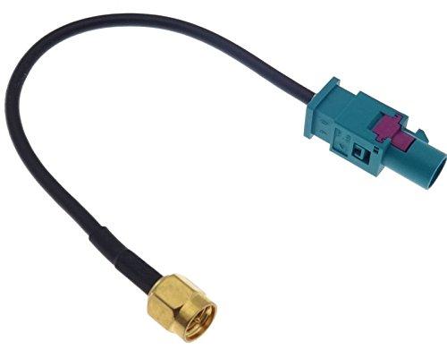 Adaptateur Fakra SMA - Pour antenne GPS - Compatible avec VAG Audi Seat Skoda Mercedes BMW