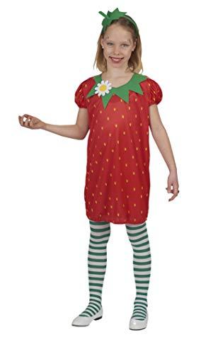 Andrea-Moden 167-128 - Disfraz infantil de fresa, multicolor