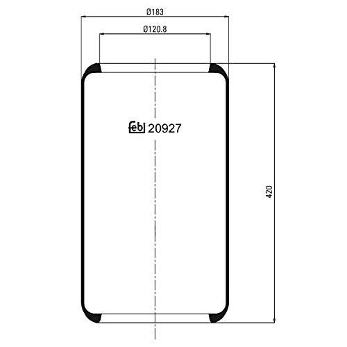 Febi-Bilstein 20927 Fuelle, suspensión neumática