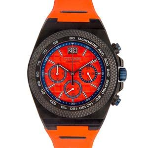 Otumm Big Date BDBL BDBL45010 Black Bezel Orange Unisex Reloj de pulsera