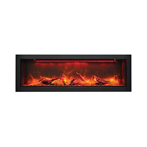 Sierra Flame Electric Fireplace with Black Steel Surround (VISTA-BI-50-12), 50-Inch