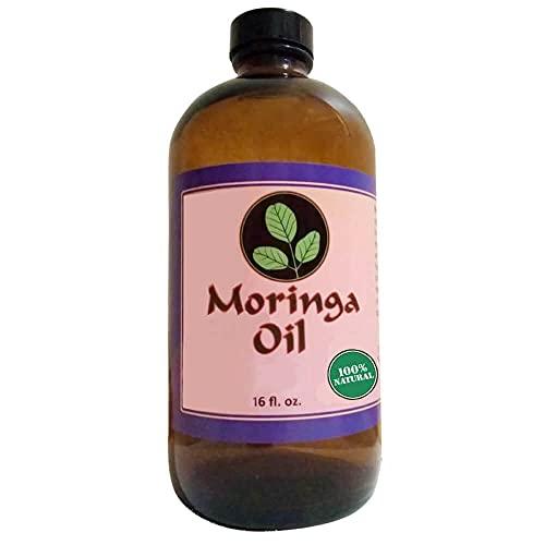 Moringa Oil 16 oz Natural Moringa Oil, Cold Pressed, Pure oil of Moringa Seeds for Beauty and Skin, Body, Massage, Hair.