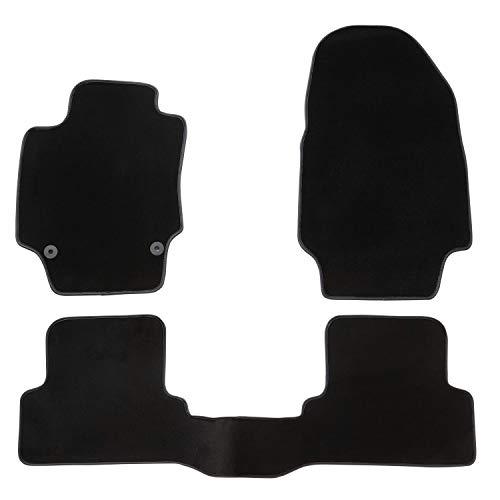 DBS Tapis de Voiture - sur Mesure pour CAPTUR (2013-2020) - 3 pièces - Tapis de Sol antidérapant pour Automobile - Moquette Premium