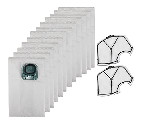 Supremery 12 bolsas de aspiradora + 2 filtros para Vorwerk Kobold VK 140 VK 150 FP 140 FP 150