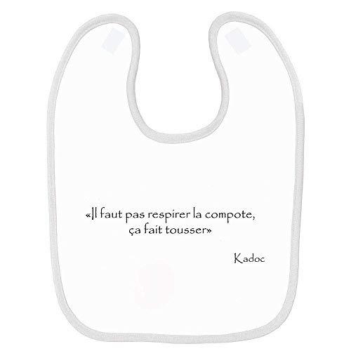 Bavoir bébé kaamelott kadoc compote Blanc