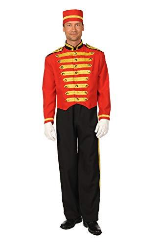 T0601-0501-S - Disfraz para hombre (talla S), color rojo y negro