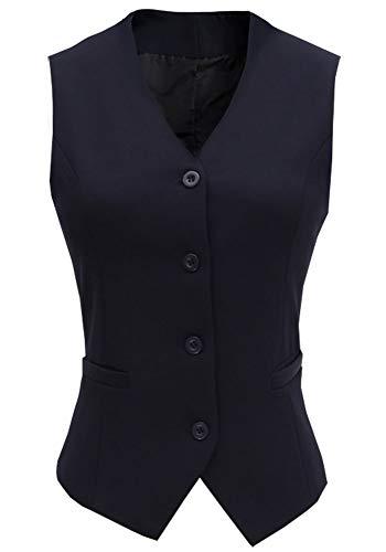 CYSTYLE 2019 Neue Damen Weste Anzug Weste MODERN Kellnerweste Slim Fit (Blau, EU XS=Asia L)