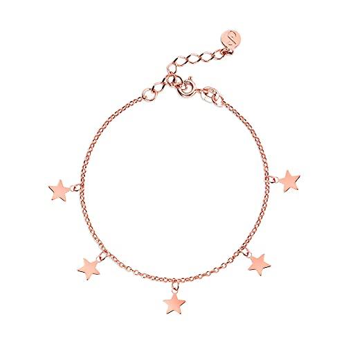 SINGULARU  - Pulsera Mini Stars Oro Rosa - Joyas mujer