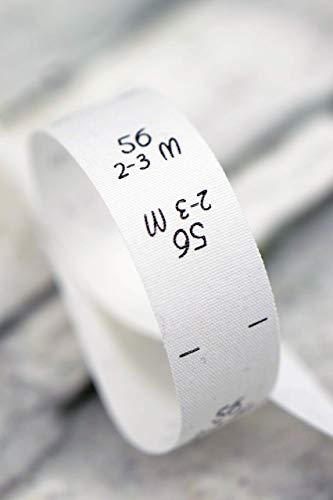 Set mit 100 Größenetiketten 50 ; 56 ; 62 ; 68, für Kleidung, Babys und Kinder, zum Einnähen, Einzelgröße, je 25 Stück, Textiletiketten, Einnähetiketten, nähen 0,23 €/St.