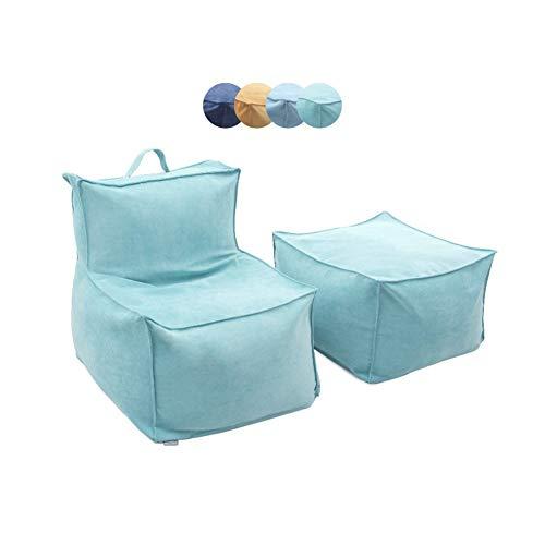 MSQL Puff Bag Chair Lazy Sofa Stuffed Foam Adecuado para Dormitorio Sala De Estar Dormitory Child Adult, Cremallera para Limpieza,Green,Fullset