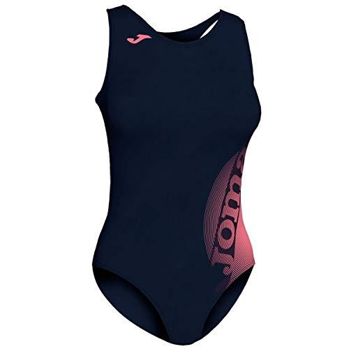 Joma Lake II Bañador Competicion, Mujer, Azul Oscuro-Fucsia oscu, XL