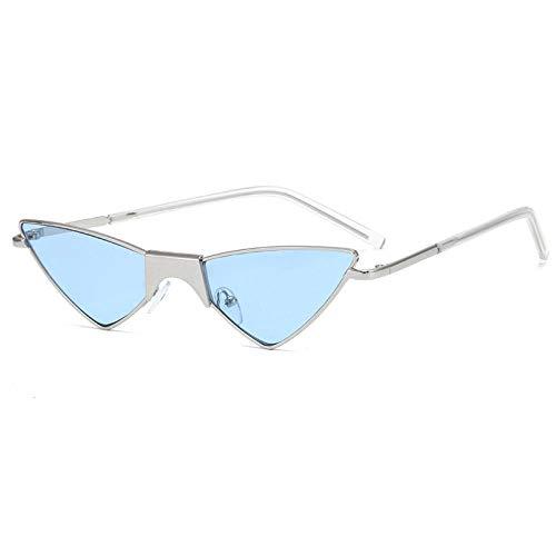 Gafas De Sol Hombre Mujeres Ciclismo Triángulo Gafas De Sol Gafas De Sol De Moda Montura Mujeres Hombres Anteojos Gafas Vintage-Azul