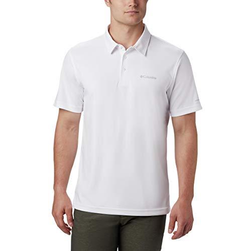 Columbia Men's M Mist Trail Short Sleeve Polo Shirt, Moisture Wicking, Sun Protection