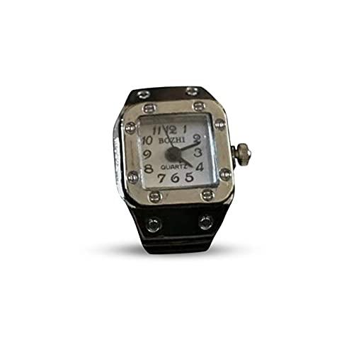 Reloj De Anillo Reloj De Anillo De Cuarzo Reloj Anillo Fashion Diseño Cadena Elástica Reloj Decorativo Creativo con Escala Digital Reloj De Cuarzo Joyería De Bisuteria Regalo para Mujer Hombre