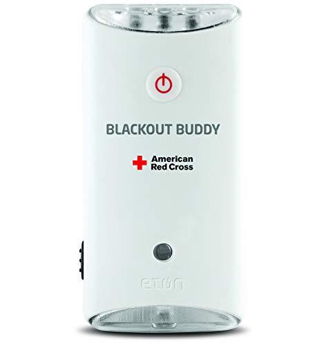 Eton ARCBB201W-SNG Buddy Emergency Flashlight, Blackout Alert & Night Light with Swivel Movement, 1 Pack , Red