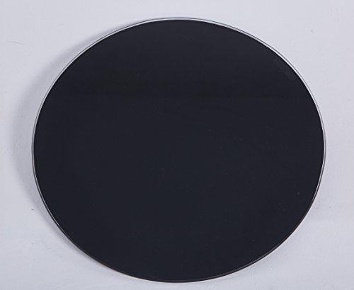 Euro Tische Glasplatte rund universell einsetzbar - Glasscheibe mit 6mm ESG Sicherheitsglas - perfekt geeignet als Tischplatte/Bodenplatte - 30cm / 40cm / 50cm (Schwarz, 40 cm)