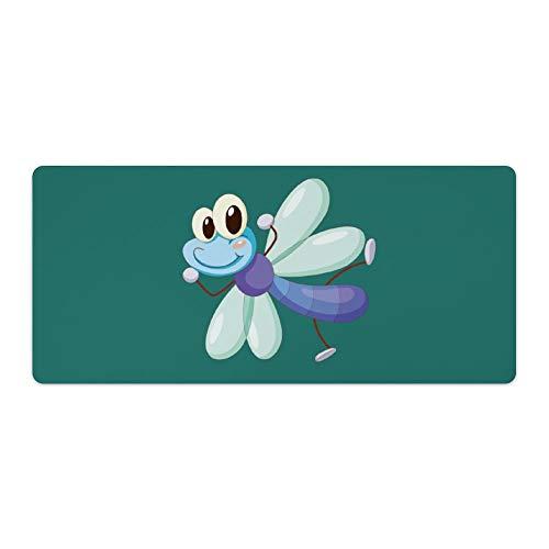 Mauspad,Schreibtischpad,Tastaturpad können definiert werden.Comic Libelle.Das exquisite Mauspad macht Ihre Arbeit und Spiele effizienter und komfortabler! 40x90cm
