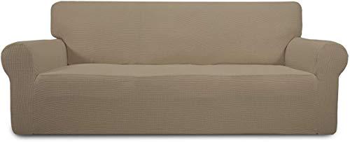 Mazu Homee Elastisches Sofa-Set 1 Stück, Sofa-Set Möbelschutzpolster, weiche Kinder elastische Bodenpolster, Spandex Jacquard klein raten weich dick dick (Sofa, dunkelgrau)