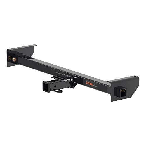 CURT 13701 Camper Adjustable Trailer Hitch RV Towing with 2-Inch Drop, 2 in. Receiver, 5,000 lbs, Fits Frames up to 51 Inches Wide, Black