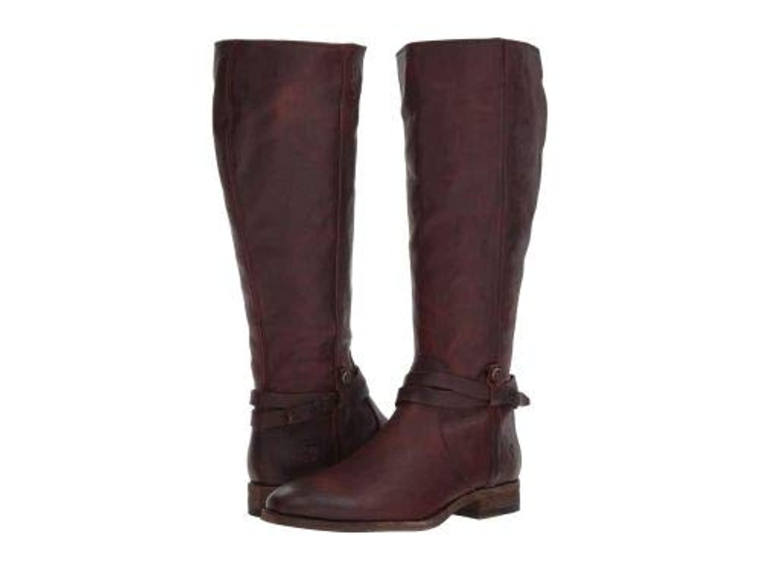 Frye(フライ) レディース 女性用 シューズ 靴 ブーツ ロングブーツ Melissa Belted Tall - Redwood Extended Washed Oiled Vintage [並行輸入品]