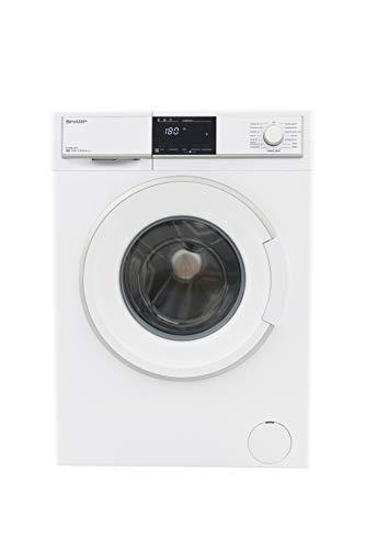 Sharp ES-HFB8143W3-DE Waschmaschine Frontlader / A+++ / 8 kg / 1400 U/min. / 15 Programme / 15 Min. Kurzprogramm / AllergySmart / Startzeitvorwahl 23 Stunden / AquaStop / Kindersicherung