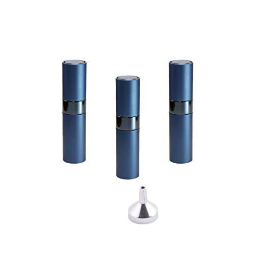 Beaupretty 3Pcs 8Ml Pompe Flacon de Parfum en Aluminium Flacon D'échantillon de Parfum Flacon Pulvérisateur avec Entonnoir (Bleu)