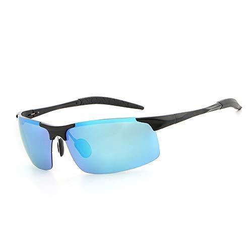 ZJN-JN - Gafas de sol de aluminio y magnesio, polarizadas, para hombre, gafas de sol de moda (color: verde, tamaño: libre) (color: 02 azul)