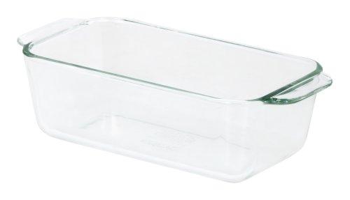 Pyrex 1-1/2-Quart Loaf Dish, 1 pack, Clear