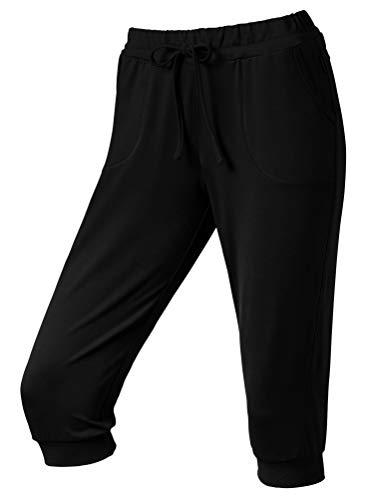 Schneider Sportswear Damen VENTURAW-3/4-Hose Hose, schwarz, 44