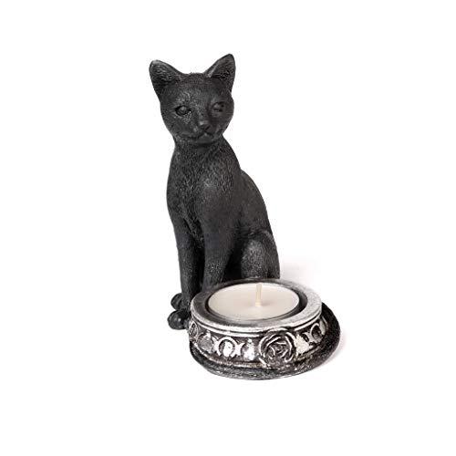The Vault Black Cat Tealight Candle Holder