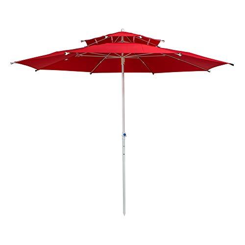 Aktive 53849 - Sombrilla octogonal 280 cm doble techo y protección UV30+ Garden