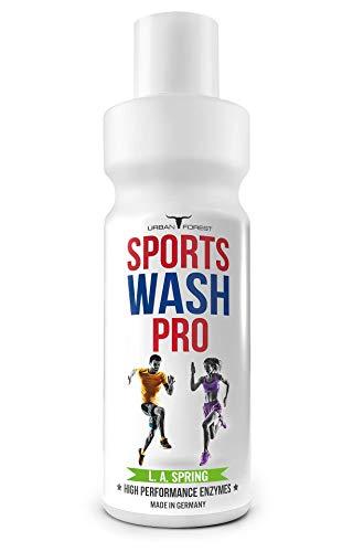 Vollwaschmittel für Outdoor,- Sport- & Funktionskleidung mit Geruchsentferner | Funktionswaschmittel | Mikrofaser Sportwaschmittel | SPORTS WASH PRO | URBAN FOREST (1L) (L.A. SPRING)