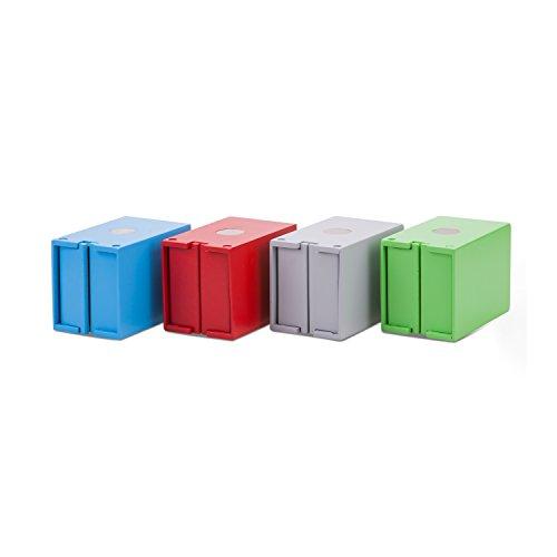 New Classic Toys 4 Containeurs Jouet en Bois pour Enfant
