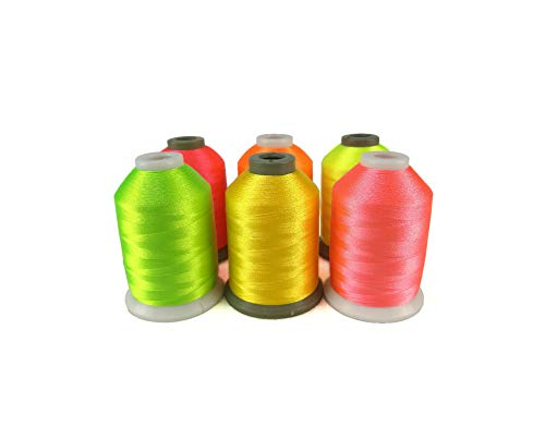 %57 OFF! Polyester Embroidery Machine Thread 6 Colors 1000M Each