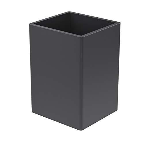 FEMELI ペン立て アクリル製 ペンスタンド 卓上収納 おしゃれ 小物入れ(黒)