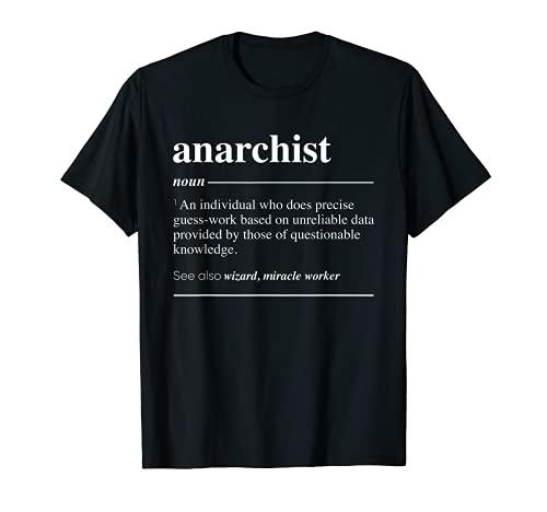 Definición anarquista Funny Sustantivo Camiseta