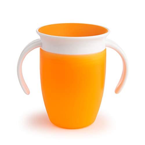 Munchkin Miracle 360 - Vaso antiderrames entrenamiento, naranja, 207 ml