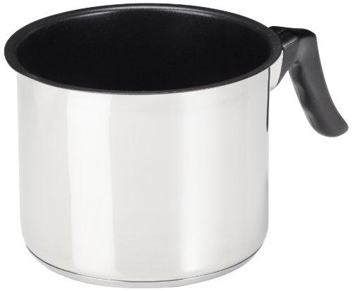 """KRÜGER 2114B Pot au Lait """"Saturn"""" avec Bec 14 cm, Acier Inoxydable, Argent"""