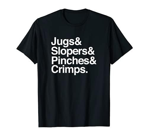 Funny Rock Climbing Bouldering tipos de bodegas Crimps Pinches Camiseta