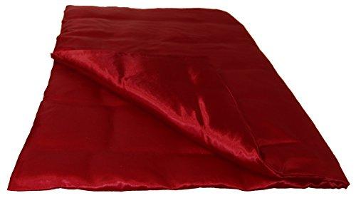 beties Glanz Satin Bettbezug ca. 135x200 cm Bettwäsche (wählen Sie Ihren Kissenbezug + Spannbetttuch extra dazu) 100% Polyester Karmin-Rot