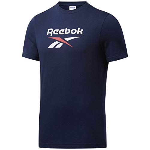 Reebok Cl F Vector Tee T-Shirt, Unisex, Erwachsene L Blau (Vecnav)