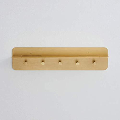 WAJI Multifunctioneel rek voor metalen wandingang, 5-haak gouden licht slaapkamer wandgemonteerde kapstok