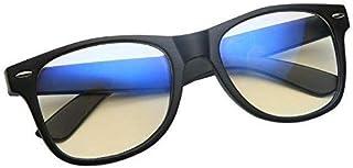 اطار ونظارة للكمبيوتر والتلفزيون تصلح للرجال والنساء، بعدسات شفافة مطلية باللون الازرق المضاد للانعكاس والاشعة فوق البنفسجية