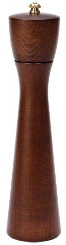 Fletchers' Mill Tronco Pepper Mill, Walnut Stain - 10 Inch, Adjustable Coarseness Fine to Coarse, MADE IN U.S.A.