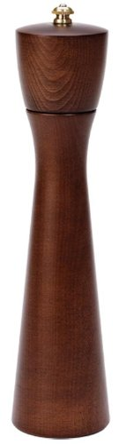 Fletchers' Mill Tronco Pepper Mill, Walnut Stain - 10 Inch, Adjustable Coarseness Fine to Coarse, MADE IN U.S.A.